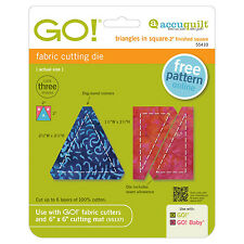"""AccuQuilt GO! & Baby Triangles in Square-2"""" Finished Square Die 55410 Quilting"""