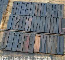 riesige HOLZLETTERN 20 cm zum AUSSUCHEN Holzbuchstabe Lettern Typographie ABC
