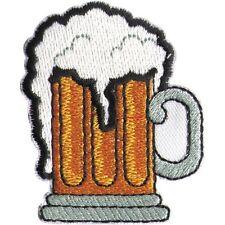 Aufnaeher Applikation Stickemblem Motiv 5 x 6 cm Bier Bierkrug 03173