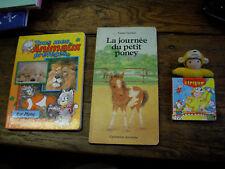 lot de 3 livres en carton pour les petits enfants
