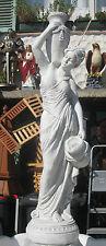 Wasserspeier Statue Figur Frau Dame massiv 120 cm hoch Teich Biotop Garten  Neu