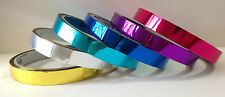 6x Chrome TAPE Cyan Pink Rainbow Holograph Reflective Gift Wrap 16m/18yards/54ft