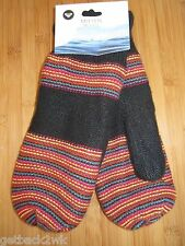 NEW Roxy Knit Mittens Multicolor $26 Retail Ladies S M L Frosting Black