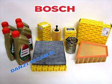 KIT FILTRI TAGLIANDO BOSCH + OLIO CASTROL 5W30 VW POLO 1.4 1400 TDI TURBO DIESEL