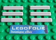 6 x Lego Technic 4519 Axle 3 LIGHT BLUISH GRAY