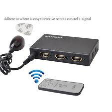 HDMI Switch 4K x 2K 3 Port IR Wireless Remote Control 3x1 HDMI Switcher HDCP USB