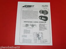 WOW! Vintage & Rare COMET TORQ-A-VERTER  INFORMATION MANUAL 8PAGES VERY HELPFULL