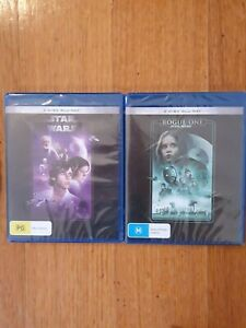 STAR WARS A NEW HOPE + ROGUE ONE BLU-RAY CLASSIC SCI-FI DOUBLE FREE POST