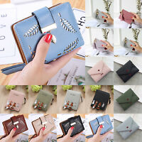 Women Girls Small PU Leather Wallet Cute Card Holder Coin Purse Clutch Handbag