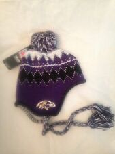 Baltimore Ravens NEW Youth Winter Hat w/ Tassles . NFL Football Boy Girl Warm