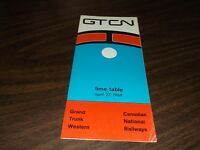 APRIL 1969 GRAND TRUNK WESTERN SYSTEM PUBLIC TIMETABLE
