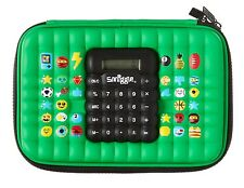 Smiggle Green Hard Top Pencil Case with Calculator New Boys Fabulous Present 🎁