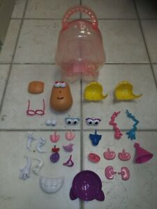 Mr. Mrs. Potato Head Lot Carrying Case Silly Suitcase Eyes Ears Noses Nice Shape