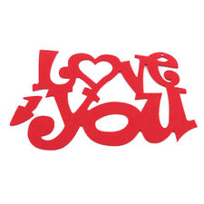 Love You Sign Non Woven Valentine's Day Hanging Wall Door Pendant Ornament LD