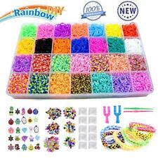 PUZ Toy Presents for 3-10 Year Old Girls 10,000+ Rainbow Rubber Bands Kids Art