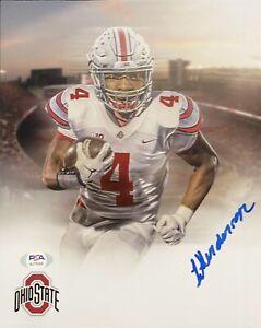 Treveyon Henderson Signed Autographed Ohio State Buckeyes 8x10 Photo PSA/DNA