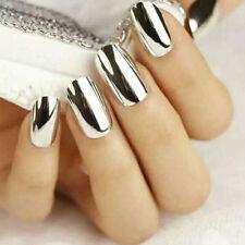 New Silver Effect Mirror Chrome Nail Powder Pigment No Polish Foil Nails