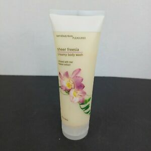 Bath and Body Works Sheer Freesia Creamy Body Wash Rare 8 Fl oz 70% Full