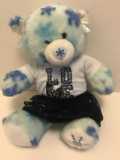 Build A Bear Workshop BABW Winter Hugs Bear w/Collectibear Pin Blue Snowflake