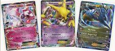 Pokemon LOT 3 RARE FATES COLLIDE KINGDRA EX #73+ ALAKAZAM EX#25+ DIANCIE EX #72