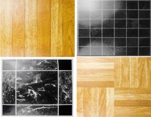 Pack of 4 Self Adhesive Vinyl Floor Tiles Kitchen, Bathroom, Rooms, Caravan UK