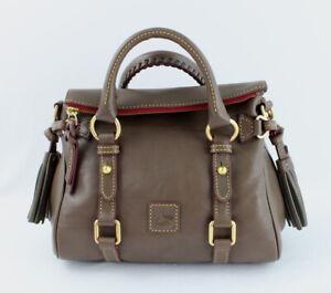 Dooney & Bourke NWT Elephant Taupe Brown Micro Satchel Handbag Shoulder Bag
