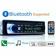 Bluetooth Car Stereo Radio In-dash 1 Din FM Aux Input Receiver SD USB MMC