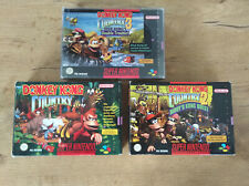 Donkey Kong Country 1 + 2 + 3 OVP Inlay Anleitung SNES Super Nintendo komplett