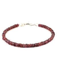 60.00 Cts Natural Amazing Hessonite Garnet Untreated Round Shape Beads Bracelet