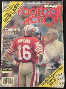 Football Action Magazine 1982 Joe Montana Cover