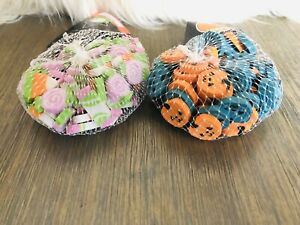 120 Mini Halloween Erasers 60 Candy 60 Pumpkin Erasers sorting math counter NWT