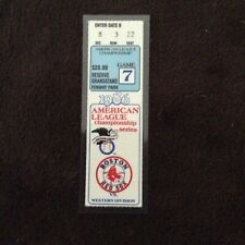 Boston Red Sox   1986 American Championship Series Ticket stub game 7
