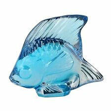 Lalique Turquoise Lustre Fish Crystal 10205600