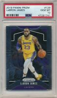 LEBRON JAMES 2019/20 PANINI PRIZM #129 LOS ANGELES LAKERS PSA 10 GEM MINT $2000+