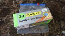 Ordenado Z 30 deslice Cremallera Nevera-Congelador De Alimentos Bolsas Grandes fuerte resellable 17cm X 19cm