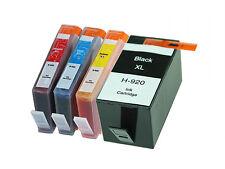 4x HP 920XL Ink Cartridge (B C Y M) w Chip for HP Officejet 6000 6500 7000 7500a