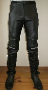 Black Leather PROBIKER Armour Motorcycle Women's Trousers Pants Size 36