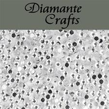1000 x 2mm Clear Diamante Loose Flat Back Rhinestone Craft Embellishment Gems