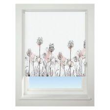Universal 90cm Pink Floral Border Blackout Roller Blind Window Dressings
