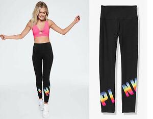 NEW VS PINK RAINBOW GRAPHIC HIGH WAIST COTTON LEGGINGS Victoria's Secret