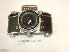EXAKTA  VXIIB 50mm F2.0 CARL ZEISS JENA PANCOLAR with RED DEPTH of FIELD PRISM