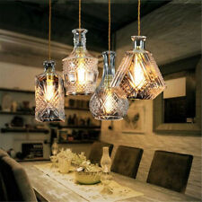 Industrial Retro Suspended Ceiling Light Fitting Glass Shade Vintage   D2
