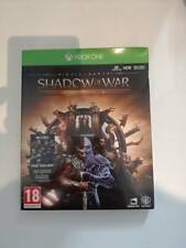 shadow of war middle-earth middle earth gold edition steelbook xbox one neuf uk