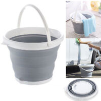 NEW COLLAPSIBLE FOLDING SILICON PLASTIC BUCKET CAMPING GARDEN WATER CARRIER