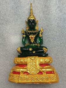 Perfect! Phra Kaeo Morakot Emerald Buddha Statue Rare Lucky Buddhist Thai Amulet