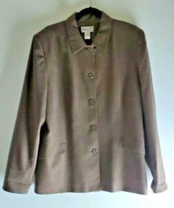 Vintage Pendleton Light Jacket Women's Sz. 20 Tall Brown Pockets Stitching Lined