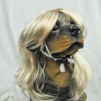 Us Ship Dog Costumes Colorfull Synthetic Hair Pet Wig Lovely Pet Dog Wigs Blonde
