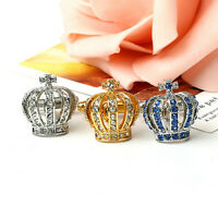 1Pair Crown CrystalSilver Mens WeddingsParty gifts shirt cufflinks cuff links WH