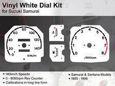 SUZUKI SAMURAI/SJ/SANTANA (1985 - 1998) Foderato - 140kmh-VINYL KIT Quadrante Bianco