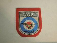 Vintage RAF Royal Air Force Hendon UK England Fabric & Felt Patch- Bulleyes Logo